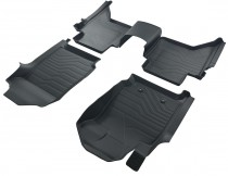 Коврики резиновые в салон 3D LUX для Ford Ranger (2011-)  САРМАТ