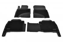 Коврики салона комбинированные  Toyota LC-200 (J20A) (2012) (5/7 мест) Unidec гибрид