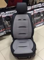 Чехол-накидка для сидений Бизнес серый (передняя пара) Fashion