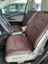 Чехол-накидка для сидений Бизнес коричневый (передняя пара) Fashion