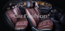Чехол-накидка для сидений Бизнес коричневый (комплект) Fashion