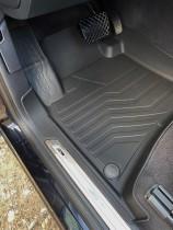 Коврики резиновые в салон 3D LUX для Volkswagen Touareg II (2010-2018) 2-х зонный климат САРМАТ
