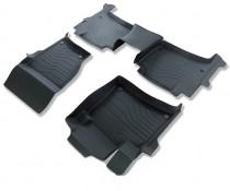 Коврики резиновые в салон 3D LUX для Porsche Cayenne (2010-) 2-х зонный климат САРМАТ