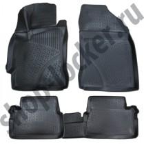 L.Locker Коврики в салон  Toyota Auris II 2012- 3D полиуретановые