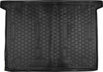 Резиновые коврики в багажник Fiat Doblo (2010>) (7 Мест) Корот. база