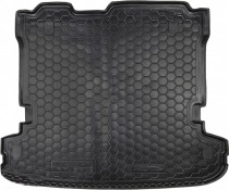 Резиновые коврики в багажник Mitsubishi Pajero Wagon LV (2007>) (7 Мест)  AvtoGumm