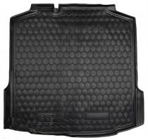 Резиновые коврики в багажник Skoda Rapid (Лифтбэк)