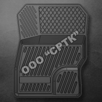 Резиновые коврики в салон Форд Фокус II 2005-2008- СРТК