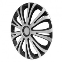 4 RACING Avera Silver&Black Колпаки для колес R13 (Комплект 4 шт.)
