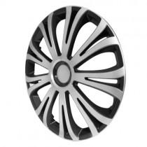 4 RACING Avera Silver&Black Колпаки для колес R16 (Комплект 4 шт.)