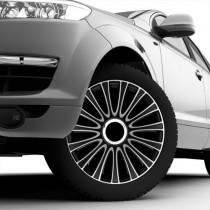 4 RACING Le Mans Pro Silver&Black Колпаки для колес R15 (Комплект 4 шт.)
