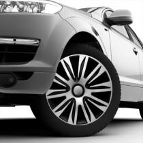 4 RACING Nardo Silver&Black Колпаки для колес R14 (Комплект 4 шт.)