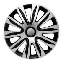 4 RACING Nardo Silver&Black Колпаки для колес R16 (Комплект 4 шт.)