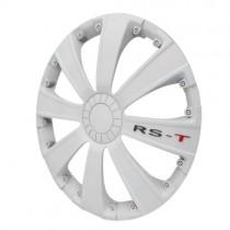 4 RACING RST WHITE Колпаки для колес R15 (Комплект 4 шт.)