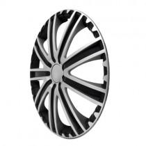 4 RACING Toro Silver&Black Колпаки для колес R14 (Комплект 4 шт.)
