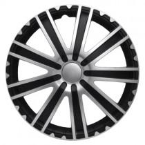 4 RACING Toro Silver&Black Колпаки для колес R15 (Комплект 4 шт.)