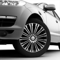 4 RACING Volante Silver&Black Колпаки для колес R14 (Комплект 4 шт.)