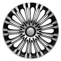 4 RACING Volante Silver&Black Колпаки для колес R16 (Комплект 4 шт.)