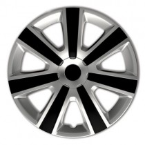 VR Silver&Black Колпаки для колес R14 (Комплект 4 шт.)