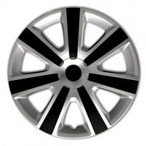 4 RACING VR Silver&Black КОЛПАКИ ДЛЯ КОЛЕС R16 (Комплект 4 шт.)