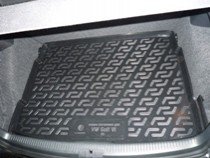 Коврики в багажник Volkswagen Golf VI hb (09-) - пластик