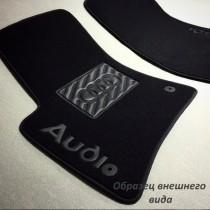 Ворсовые коврики в салон Audi A-6 2010 г> new АКП седан без перемычки