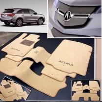 Ворсовые коврики в салон Acura MDX 2002г> АКП 7мест Vip tuning