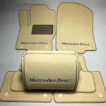 Ворсовые коврики в салон Mercedes X164 GL350/450/500 2006-2012г. (3 ряда) (увеличенный размер)