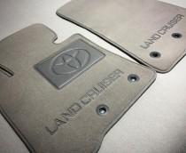 Vip tuning Ворсовые коврики в салон Toyota Highlander 2012г> АКП (2 ряда)