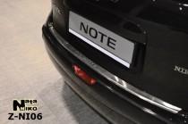 Nataniko Накладка на бампер с загибом Nissan Note