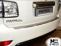Nataniko Накладка на бампер с загибом Nissan PATROL VI