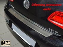 Nataniko Накладка на бампер с загибом Nissan Qashqai +2 (J10)