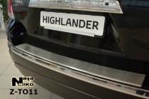 Nataniko Накладка на бампер с загибом Toyota HIGHLANDER II FL