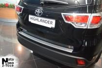 Nataniko Накладка на бампер с загибом Toyota HIGHLANDER III