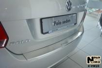 Nataniko Накладка на бампер с загибом Volkswagen Polo V 4D