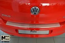 Nataniko Накладка на бампер с загибом Volkswagen Polo V 5D