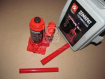 ДК Домкрат бутылочный, 2т пластик, красный H=150/280