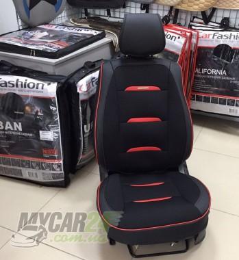 Fashion Накидка для сидений Business черный+красный (пара)
