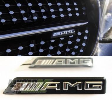 Logo Шильдик эмблема AMG на решетку (mini)