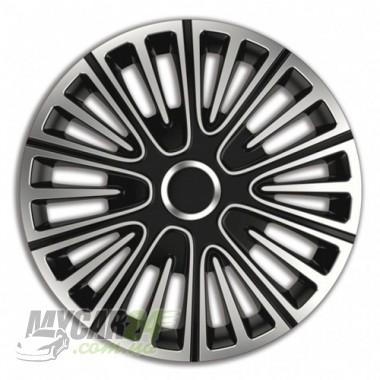 4 RACING Motion Silver&Black Колпаки для колес R13 (Комплект 4 шт.)