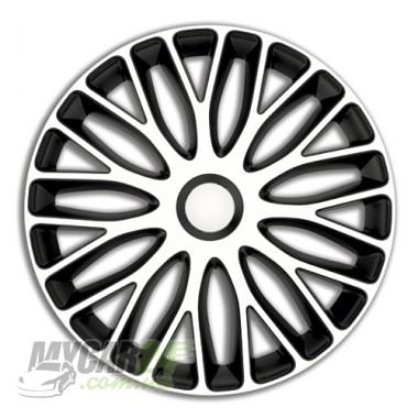 4 RACING Mugello White&Black Колпаки для колес R14 (Комплект 4 шт.)