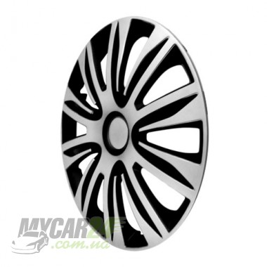 4 RACING Nardo Silver&Black Колпаки для колес R13 (Комплект 4 шт.)