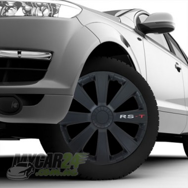 4 RACING RST BLACK Колпаки для колес R15 (Комплект 4 шт.)