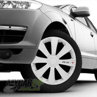 4 RACING RST WHITE Колпаки для колес R13 (Комплект 4 шт.)