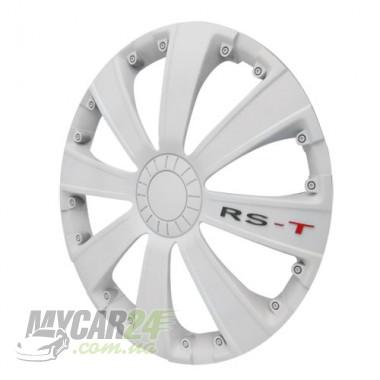 4 RACING RST WHITE Колпаки для колес R14 (Комплект 4 шт.)