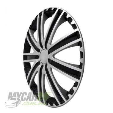 4 RACING Toro Silver&Black Колпаки для колес R13 (Комплект 4 шт.)