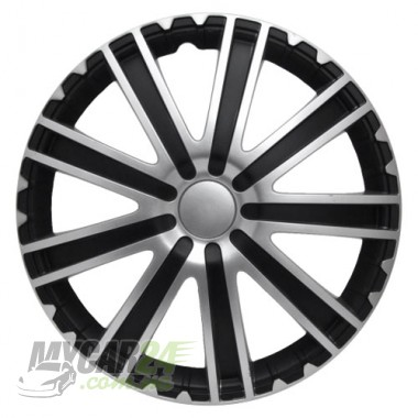 4 RACING Toro Silver&Black Колпаки для колес R16 (Комплект 4 шт.)