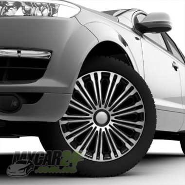 4 RACING Volante Silver&Black Колпаки для колес R15 (Комплект 4 шт.)