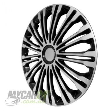4 RACING Volante Silver&Black Колпаки для колес R17 (Комплект 4 шт.)