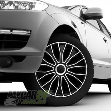 4 RACING Voltec Black&White Колпаки для колес R15 (Комплект 4 шт.)